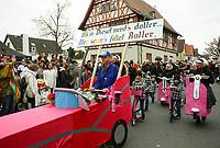 Büttelborn 03.03.2019: Rosensonntagsumzug<br /> Mer seuns mit dem Roller unterwegs<br /> Foto: Vollformat/Marc Schüler, Schäfergasse 5, 65428 R'eim, Fon 0151/11654988, Bankverbindung KSKGG BLZ. 50852553 , KTO. 16003352. Alle Honorare zzgl. 7% MwSt.