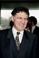 Quebec City(Qc) CANADA -April 2nd 1998<br /> -File Photo -<br /> Paul Begin, quebec environment Minister arrive at Reseau Environnement 1998  Convention in Quebec City.<br /> <br /> <br /> Paul Begin (born May 15, 1943 in Dolbeau, Quebec) is a former Quebec politician and Cabinet Minister. Member of the Parti Qu&eacute;becois, he served as the province's Justice Minister from 1994 to 1997 and from 2001 to 2002. Louis-H&eacute;bert riding in the 1994 elections when the Parti Qu&eacute;becois re-claimed power after 9 years of Liberal governance under Robert Bourassa and Daniel Johnson Jr.. During his political career, he was also a member of Cabinet, being first named for the first time as Justice Minister in the Jacques Parizeau (and later Lucien Bouchard)Cabinet from 1994 to 1997. He was also the Environment Minister from 1997 to 2001, Minister of Wildlife from 1997 to 1998 and Minister of Revenue from 1999 to 2001 before being re-named as Justice Minister in the Bernard Landry Cabinet for his final year until he sat as an Independent MNA in 2002. He did not seek a third mandate in the 2003 elections.