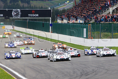 02.05.2015.  Spa-Francorchamps, Belgium. World Endurance Championship Round 2. The start of the six hours of Spa.