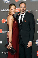 Model Martina Klein and ex tenis player Alex Corretja during Barcelona 5th AIDS Ceremony. November 24,2014.(ALTERPHOTOS/Acero) /NortePhoto<br />