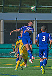 18 September 2013: Hofstra University Pride Midfielder Nino Alfonso, a Freshman from WestIslip, NY, in action against the University of Vermont Catamounts at Virtue Field in Burlington, Vermont. The Catamounts defeated the visiting Pride 2-1. Mandatory Credit: Ed Wolfstein Photo *** RAW (NEF) Image File Available ***
