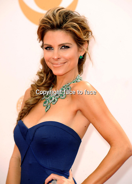 Maria Menounos arrives at the 65th Primetime Emmy Awards at Nokia Theatre on Sunday Sept. 22, 2013, in Los Angeles.<br /> Credit: MediaPunch/face to face<br /> - Germany, Austria, Switzerland, Eastern Europe, Australia, UK, USA, Taiwan, Singapore, China, Malaysia, Thailand, Sweden, Estonia, Latvia and Lithuania rights only -
