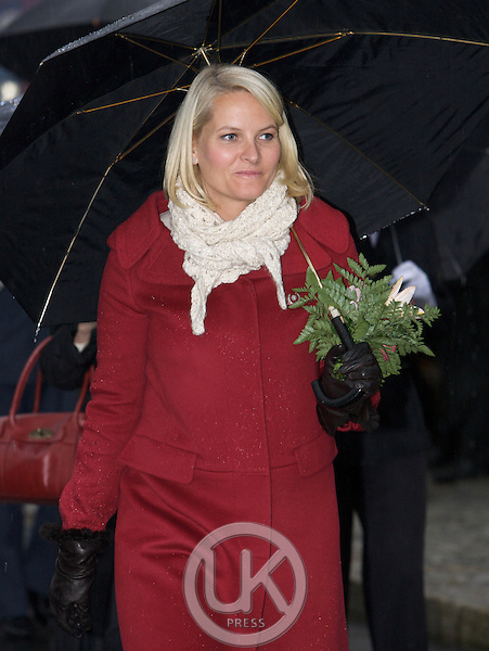 Crown Princess Mette Marit of Norway in the town of Fyresdalon a three day visit to The county of Telemark in Norway.