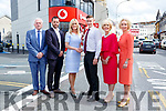 Opening the new Vodafone  shop in College Street Killarney on Wednesday were Pat, Billy and Jessica O'Connor, James O'Donoghue, Breda O'Connor and Anne O'Leary CEO Vodafone