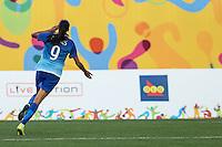 HAMILTON, CANADA, 25.07.2015 - PAN-FUTEBOL - Andressa Alves do Brasil durante partida contra a Colombia em partida da final do futebol feminino nos jogos Pan-americanos no Estadio Tim Hortons em Hamilton no Canadá neste sábado, 25. (Foto: William Volcov/Brazil Photo Press)