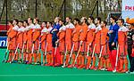 ROTTERDAM -  Line up nederland,    voor  de Pro League hockeywedstrijd heren, Nederland-Spanje (4-0) . COPYRIGHT KOEN SUYK