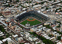 aerial photograph Wrigley Field, Chicago, Illinois