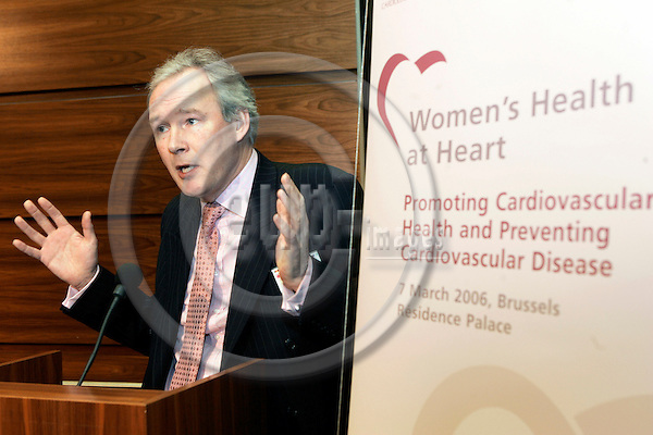 BRUSSELS - BELGIUM - 07 MARCH 2006 -- The conference ?Women's Health at Heart - Promoting Cardiovascular Health and Preventing Cardiovascular Disease?. -- David Wood, Professor of Cardiovascular Medicine, National Heart and Lung Institute, Imperial College, London Charing Cross Hospital. -- PHOTO: JUHA ROININEN / EUP-IMAGES