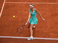 Paris, France, 01 June, 2016, Tennis, Roland Garros, Womans quarter final  Timea Bacsinszky (SUI) in her match against Kiki Bertens (NED)<br /> Photo: Henk Koster/tennisimages.com