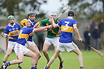 Ahane Paul O'Halloran &amp; Patrickswell Kelvin Lynch &amp; Pa Mann in action during their Senior Hurling Championship Round 1 Game played in Bruff Co.Limerick.<br /> Pictured Credit Brian Gavin Press 22
