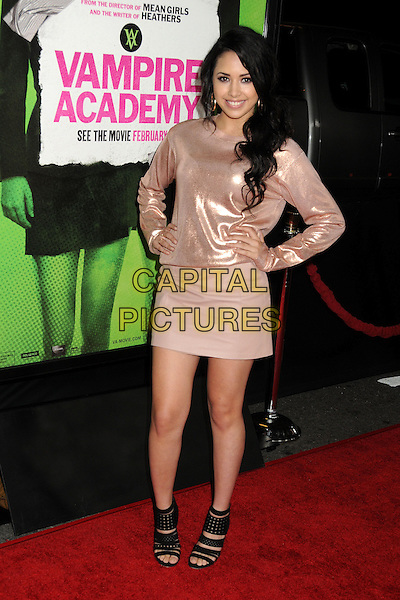 4 February 2014 - Los Angeles, California - Jasmine Villegas. &quot;Vampire Academy&quot; Los Angeles Premiere held at Regal Cinemas L.A. Live. <br /> CAP/ADM/BP<br /> &copy;Byron Purvis/AdMedia/Capital Pictures