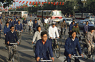 September 29th, 1984. Beijing, China. For the occasion of the 35th anniversary of the revolution, the Chinese people crowd the streets wearing their best clothes.