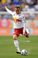Brian Nielsen (21) of the New York Red Bulls. The New York Red Bulls defeated the Philadelphia Union 2-1 during a Major League Soccer (MLS) match at Red Bull Arena in Harrison, NJ, on April 24, 2010.