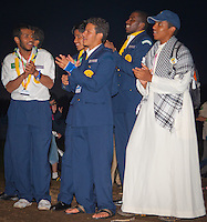 Scouts from Saudi Arab attending the ramadan ceremony. Photo: André Jörg/ Scouterna