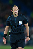 Referee Jonas Eriksson <br /> <br /> Photographer Craig Mercer/CameraSport<br /> <br /> UEFA Champions League Round of 16 First Leg - Basel v Manchester City - Tuesday 13th February 2018 - St Jakob-Park - Basel<br />  <br /> World Copyright &copy; 2018 CameraSport. All rights reserved. 43 Linden Ave. Countesthorpe. Leicester. England. LE8 5PG - Tel: +44 (0) 116 277 4147 - admin@camerasport.com - www.camerasport.com