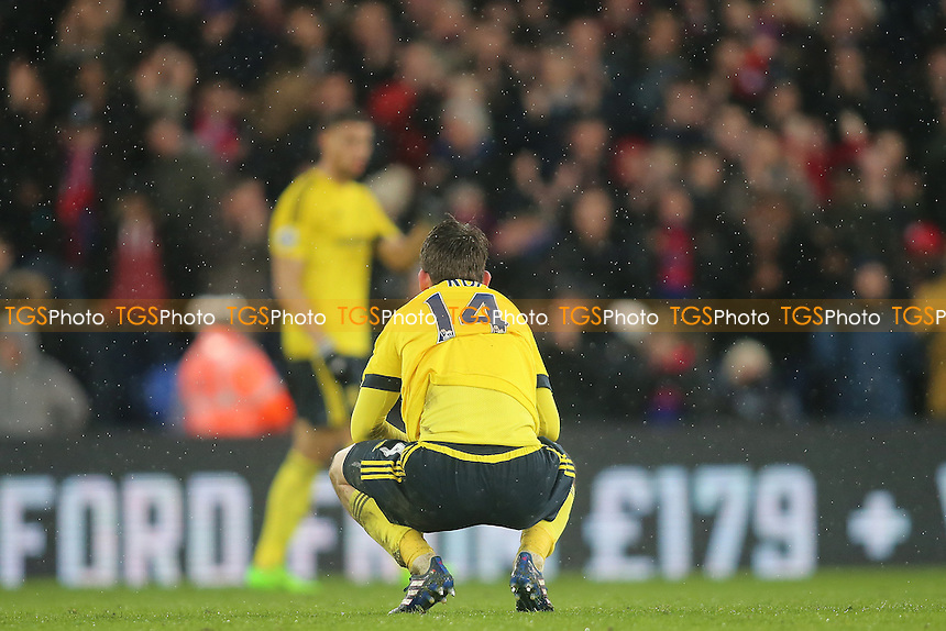Marten de Roon of Middlesbrough at the final whislte during Crystal Palace vs Middlesbrough, Premier League Football at Selhurst Park on 25th February 2017