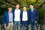 At the Brookfield College Graduation in the Ballyroe Heights Hotel on Thursday were Evan Lyons, Cillian Tierney, Cian Liston and Keelan Pierce