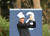 Ross Fisher (ENG) on the 12th tee during Round 3 of the 2015 Alfred Dunhill Links Championship at Kingsbarns in Scotland on 3/10/15.<br /> Picture: Thos Caffrey | Golffile