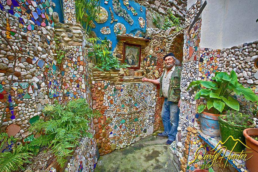 Alfonso, and Italian artist in his Atrani Italy garden