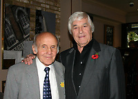 Sammy McCarthy, former British Featherweight Champion between 1954 and 1955, pictured at a celebration for his 80th Birthday with Colin Hart (R)