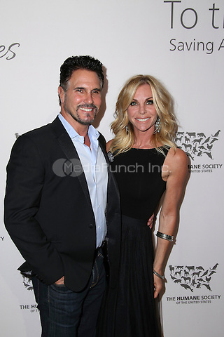 HOLLYWOOD, CA - MAY 07: Cindy Ambuehl, Don Diamont attends The Humane Society of the United States' to the Rescue Gala at Paramount Studios on May 7, 2016 in Hollywood, California. Credit: Parisa/MediaPunch.