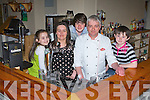 Aidan and Mairead Guirey and their family l-r: Lucy, Dylan and Adam who will cater for all your culinary needs in the bar and restaurant of the Castleisland Golf club