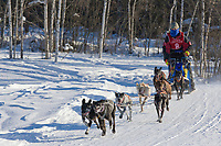Musher Beth Callis, 2007 Limited North American Championship Sled dog race in Fairbanks, Alaska.