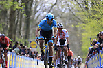 Magnus Cort Nielsen (DEN) Astana Pro Team on the the first ascent of the Kemmelberg during the 2019 Gent-Wevelgem in Flanders Fields running 252km from Deinze to Wevelgem, Belgium. 31st March 2019.<br /> Picture: Eoin Clarke | Cyclefile<br /> <br /> All photos usage must carry mandatory copyright credit (© Cyclefile | Eoin Clarke)