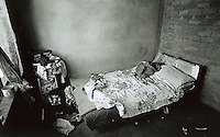 UPINGTON, SOUTH AFRICA - FEBRUARY 8: The bed where 8-month-old Baby Thsepang was raped is shown February 8, 2002 in Loisevale near Upington, South Africa. Baby Thsepang was raped by her father in October 2001. Loisevale is a poor and destitute black township where unemployment is high. A number of social problems exists in the town including domestic violence and alcohol abuse. The baby rape shocked the country. The country is struggling with an increasing number of rapes and sexual abuse of young children. In addition, the country has the highest number of rapes in the world. (Photo by Per-Anders Pettersson)