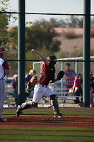 Connor Donohue (20) of Missoula, Montana during the Baseball Factory All-America Pre-Season Tournament, powered by Under Armour, on January 14, 2018 at Sloan Park Complex in Mesa, Arizona.  (Freek Bouw/Four Seam Images)