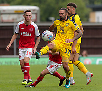 Oxford United's Ricky Holmes controls well while under pressure from Fleetwood Town's Jason Holt<br /> <br /> Photographer David Shipman/CameraSport<br /> <br /> The EFL Sky Bet League One - Oxford United v Fleetwood Town - Saturday August 11th 2018 - Kassam Stadium - Oxford<br /> <br /> World Copyright &copy; 2018 CameraSport. All rights reserved. 43 Linden Ave. Countesthorpe. Leicester. England. LE8 5PG - Tel: +44 (0) 116 277 4147 - admin@camerasport.com - www.camerasport.com