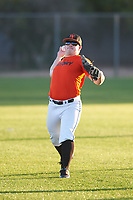Nick Zezulka (46), from St. Anthony, Minnesota, while playing for the Orioles during the Under Armour Baseball Factory Recruiting Classic at Gene Autry Park on December 27, 2017 in Mesa, Arizona. (Zachary Lucy/Four Seam Images)