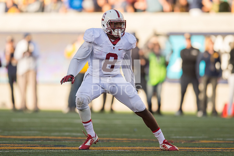 BERKELEY, CA - November 22, 2014: The Big Game. The Stanford Cardinal vs the Cal Golden Bears in Berkeley, California. Final score, Stanford Cardinal 38, Cal Golden Bears 17.