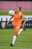 Keeley Dowling (17) of Sky Blue FC. Sky Blue FC defeated the Chicago Red Stars 1-0 during a Women's Professional Soccer match at Yurcak Field in Piscataway, NJ, on June 17, 2009.