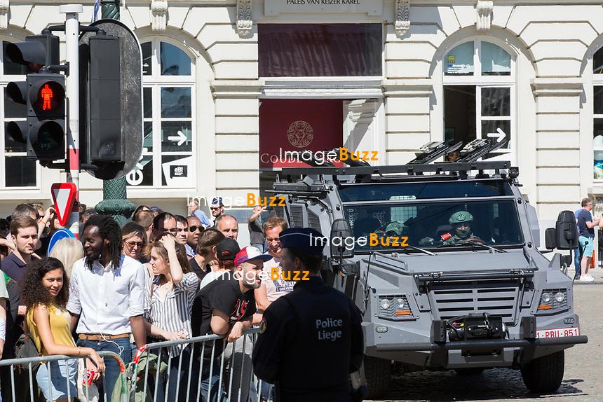 Les conjoints des chefs d&rsquo;Etat et de gouvernement lors d'une visite du Mus&eacute;e Magritte &agrave; Bruxelles.<br /> Belgique, Bruxelles, 25 mai 2017.<br /> Atmosphere during a visit of the First Ladies to the Magritte Museum in Brussels.<br /> Belgium, Brussels, 25 May 2017.