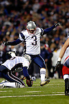 18 November 2007: New England Patriots kicker Stephen Gostkowski (3) in action against the Buffalo Bills at Ralph Wilson Stadium in Orchard Park, NY. The Patriots defeated the Bills 56-10 in their second meeting of the season...Mandatory Photo Credit: Ed Wolfstein Photo