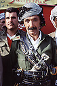 Irak 1991.Kurde a la fête du PDK.Iraq 1991 .Celebration of the 45th anniversary of KDP