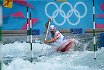 LONDON, ENGLAND - JULY 29:  Michal Martikan of Slovakia competes in the Men's Kayak Slalom Prelims during Day 3 of the London 2012 Olympic Games on July 29, 2012 at the Lee Valley White Water Center Center in Hertfordshire, England. (Photo by Donald Miralle)