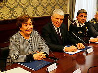Carmela Pagano Prefetto di Napoli e Antonio De Iesu , Questore di Napoli durante il  Comitato Provinciale Ordine e Sicurezza nella Prefettura di Napoli