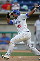 August 30 2009: Gabriel Ortiz of the Stockton Ports during game against the Rancho Cucamonga Quakes at The Epicenter in Rancho Cucamonga,CA.  Photo by Larry Goren/Four Seam Images