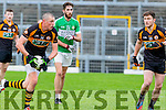 How's around<br /> -------------------<br /> Kieran Donaghy, Austin Stacks, looks up to see who's available during their clash with Killarney Legion at Fitzgerald Stadium last Sunday afternoon.