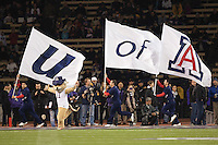 Oct 29, 2011:  Arizona cheer members ran onto the field before the game against Washington.  Washington defeated Arizona 42-31 at Husky Stadium in Seattle, Washington...