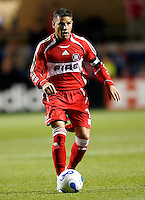 Chicago Fire midfielder Chris Armas (14) looks to make a pass.  FC Dallas defeated the Chicago Fire 2-1 at Toyota Park in Bridgeview, IL on May 17, 2007.