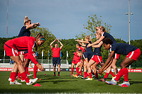Kansas City, MO - Saturday May 27, 2017: Washington Spirit  during a regular season National Women's Soccer League (NWSL) match between FC Kansas City and the Washington Spirit at Children's Mercy Victory Field.