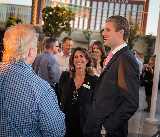 LAS VEGAS, NV - October 16: Eric Trump and Guests pictured as Trump International Hotel Las Vegas hosts Luxury Lifestyle and charity fundraiser with Eric Trump at Trump International Hotel in Las Vegas, NV on October 16, 2014. Credit: RTNEKP/MediaPunch***HOUSE COVERAGE***