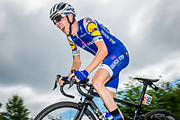 Picture by Alex Whitehead/SWpix.com - 14/07/2017 - Cycling - Le Tour de France - Stage 13, Saint-Girons to Foix - Quick-Step Floors' Dan Martin summits the Mur de Peguere.