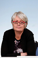 Annamaria Furlan national secretary of CISL<br /> Roma 21/11/2017. Palazzo Chigi. Conferenza stampa al termine dell'incontro Governo - Sindacati<br /> Rome November 21st 2017. Press conference at the end of the meeting between Government and Trade Unions<br /> Foto Samantha Zucchi Insidefoto
