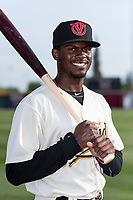 Visalia Rawhide outfielder Anfernee Grier (10) poses for a photo before a game against the Rancho Cucamonga Quakes at Rawhide Ballpark on April 8, 2019 in Visalia, California. (Zachary Lucy/Four Seam Images)