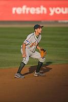 August 6, 2010: Boise Hawks shortstop Elliot Soto (#1) during a Northwest League game against the Everett AquaSox at Everett Memorial Stadium in Everett, Washington.