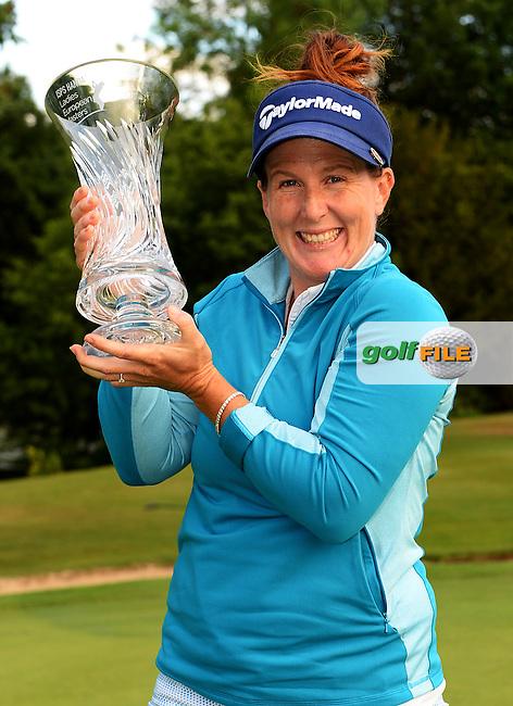 Beth Allen of USA poses with the trophy following the Final Round of The ISPS Handa Ladies European Masters at The Buckinghamshire Golf Club, Denham, England. Picture: Golffile | Richard Martin-Roberts<br /> All photo usage must carry mandatory copyright credit (&copy; Golffile | Richard Martin- Roberts)